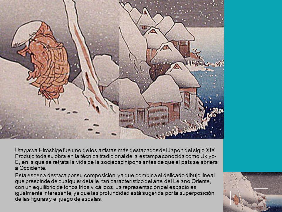 Utagawa Hiroshige fue uno de los artistas más destacados del Japón del siglo XIX. Produjo toda su obra en la técnica tradicional de la estampa conocid