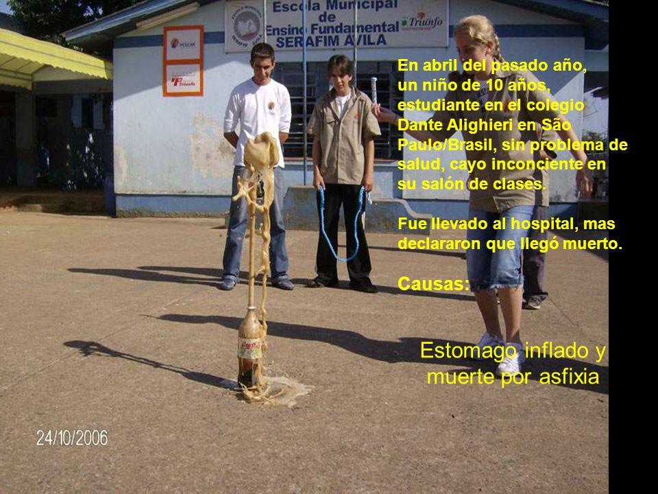 En abril del pasado año, un niño de 10 años, estudiante en el colegio Dante Alighieri en São Paulo/Brasil, sin problema de salud, cayo inconciente en su salón de clases.