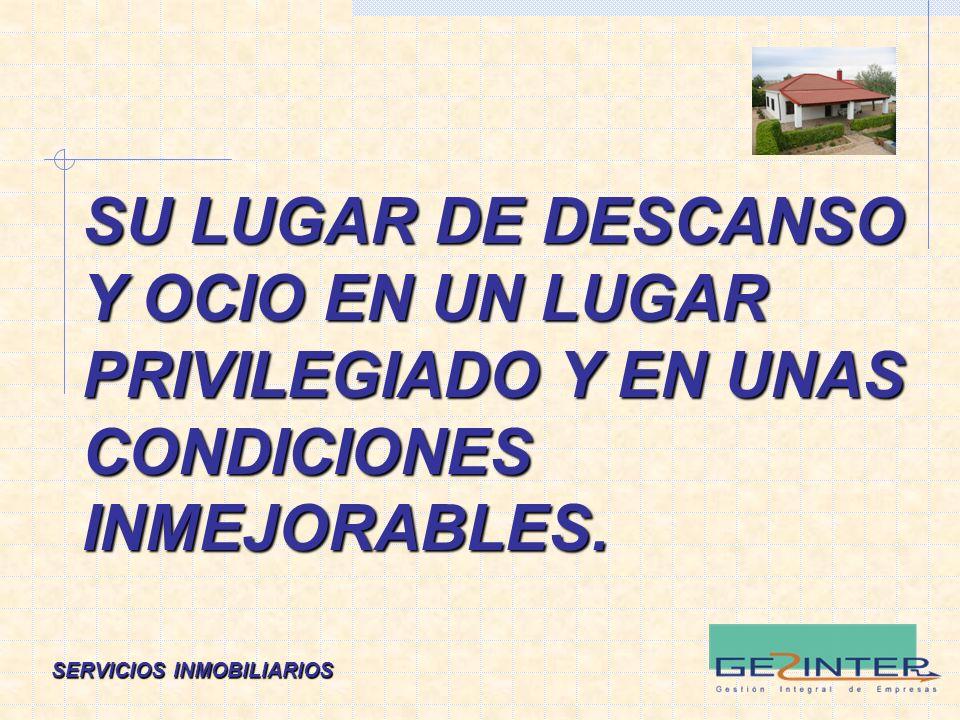 SERVICIOS INMOBILIARIOS TODO ELLO A 2 Km. de CAMPO DE CRIPTANA, y con muy buena comunicación.