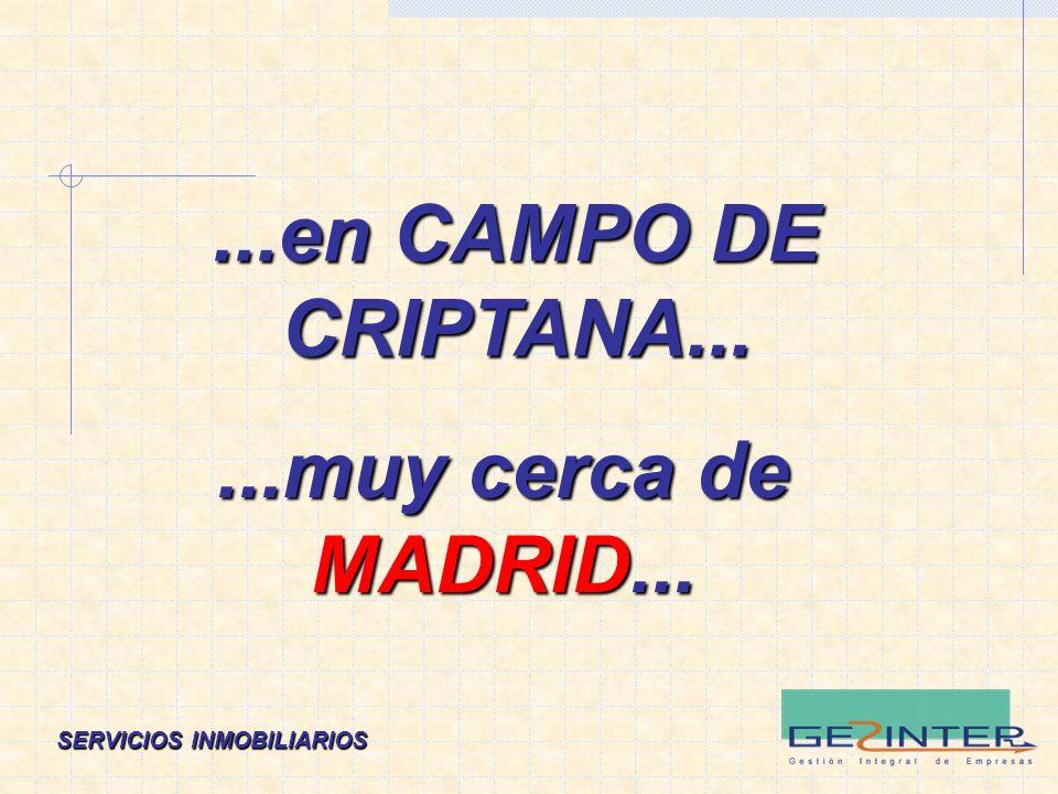 SERVICIOS INMOBILIARIOS...en CAMPO DE CRIPTANA......muy cerca de MADRID...