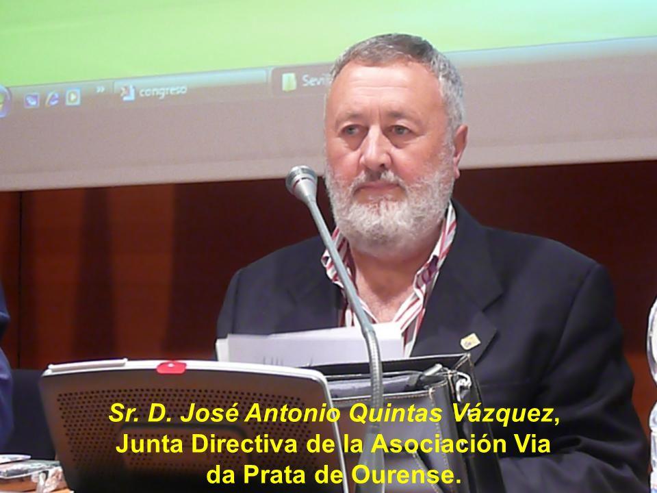 Sr. D. Vicente Sánchez Pablos, Presidente de Honor de la Asociación de Amigos del Camino de Santiago Vía de la Plata de Fuenterroble de Salvatierra.