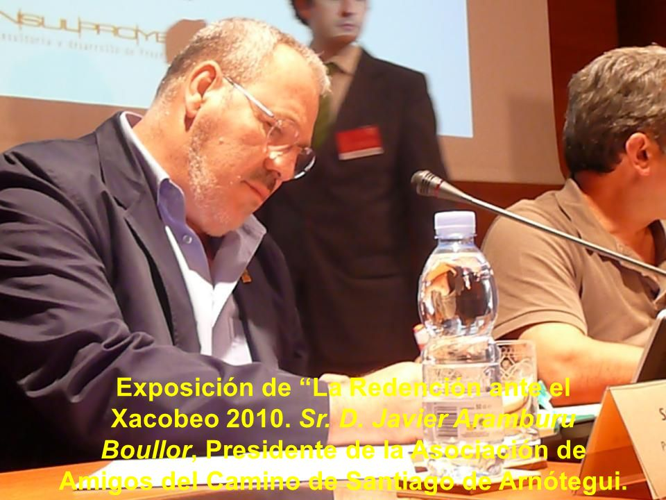 Sr. D. Laureano Víctor García Díez, Presidente de la Agrupación de Asociaciones de Amigos del Camino de Santiago del Norte.