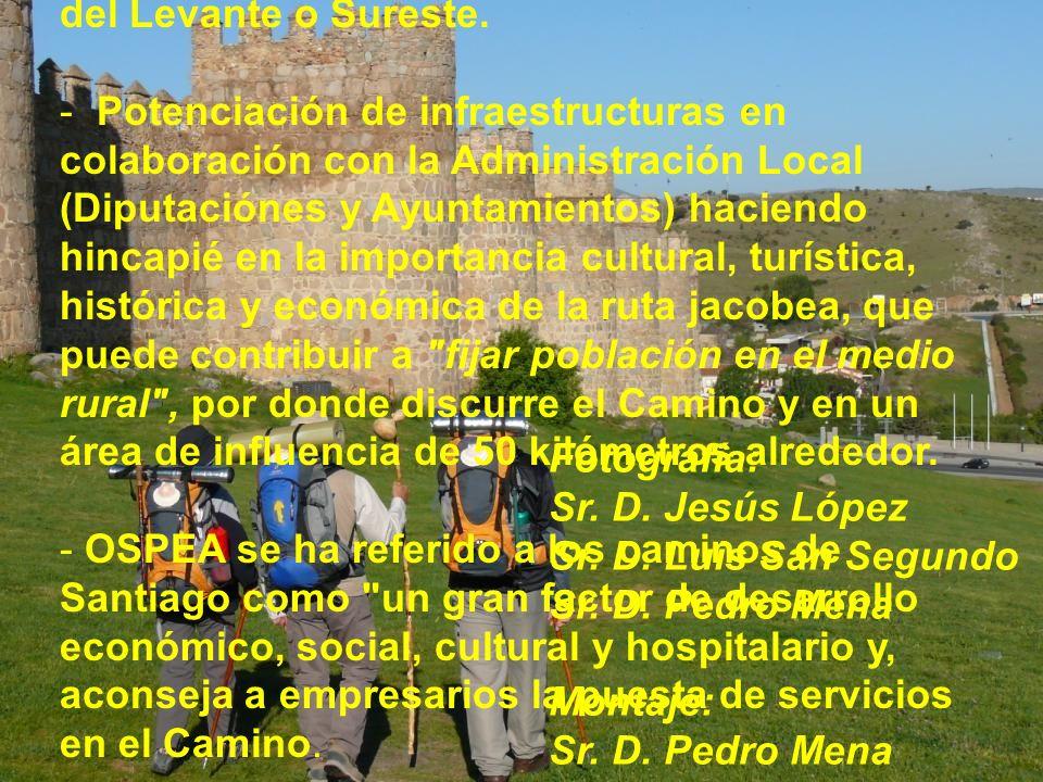 Agradecemos a Ospea y a Con/Sul/Pro/Yect la celebración del VI Congreso Intenacional de la Caminos de Santiago en Ávila, por la oportunidad que brinda
