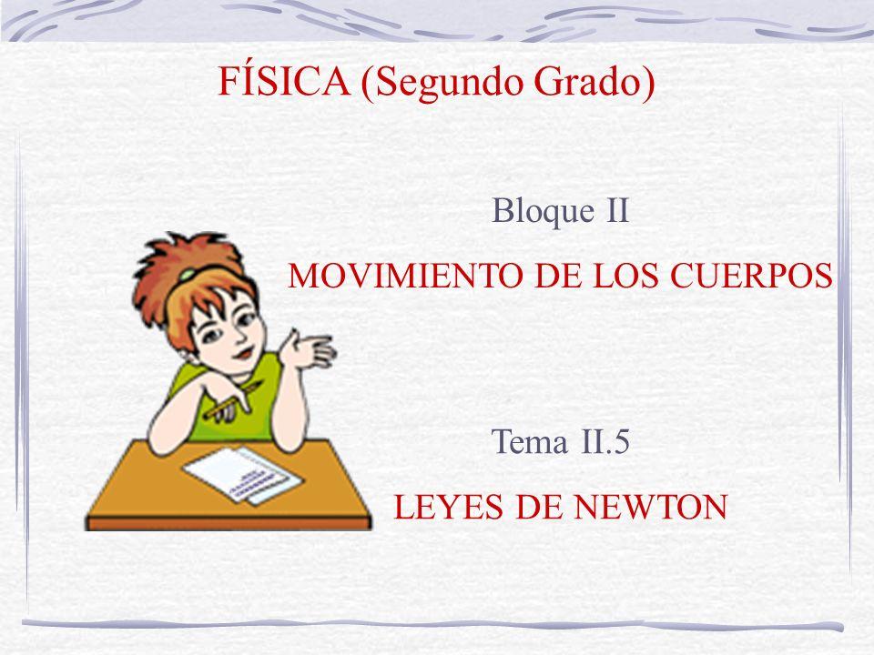 FÍSICA (Segundo Grado) Bloque II MOVIMIENTO DE LOS CUERPOS Tema II.5 LEYES DE NEWTON