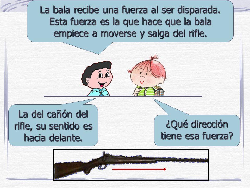 La bala recibe una fuerza al ser disparada.