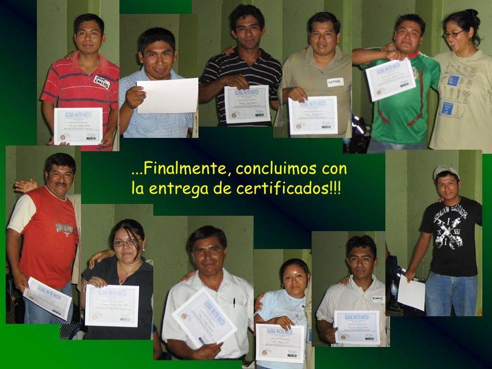 ...Finalmente, concluimos con la entrega de certificados!!!