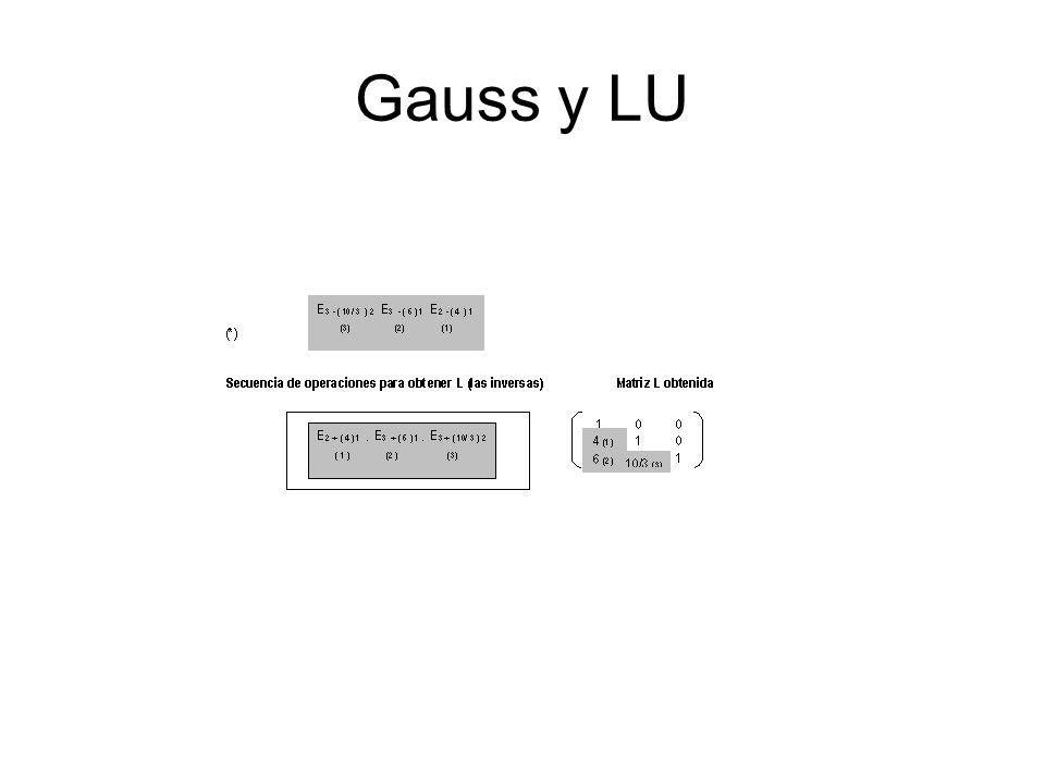 Gauss y LU