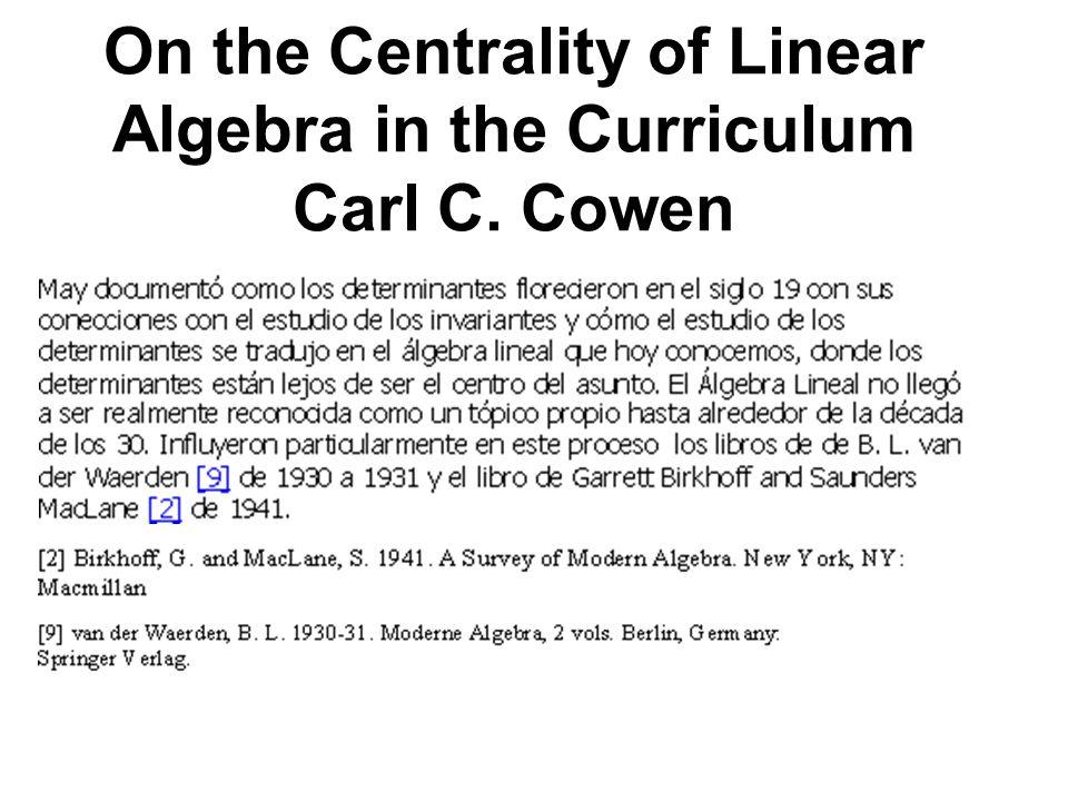 Significado de los vectores R Esta es la idea principal que a partir de la mitad del siglo 20 redefinió los métodos para calcular autovalores con ayuda del computador, dada la dificultad de calcularlos como raíces del polinomio característico.