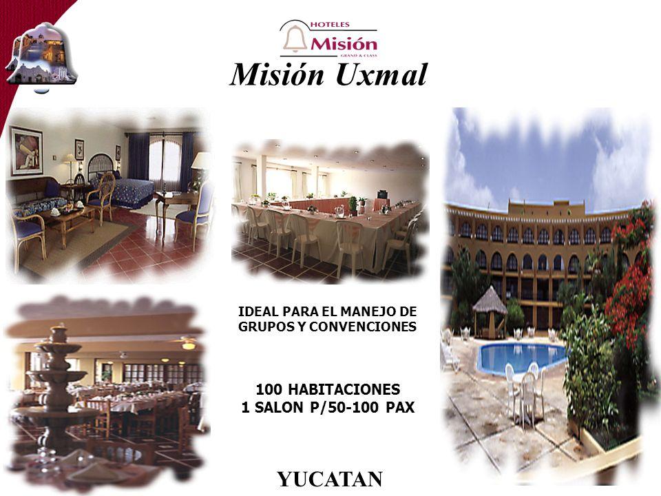 Misión Uxmal IDEAL PARA EL MANEJO DE GRUPOS Y CONVENCIONES 100 HABITACIONES 1 SALON P/50-100 PAX YUCATAN