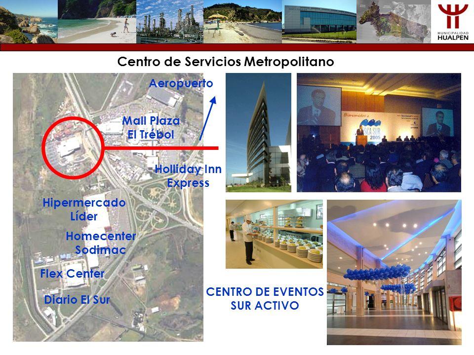 CENTRO DE EVENTOS SUR ACTIVO Mall Plaza El Trébol Hipermercado Líder Homecenter Sodimac Diario El Sur Flex Center Holliday Inn Express Centro de Servi