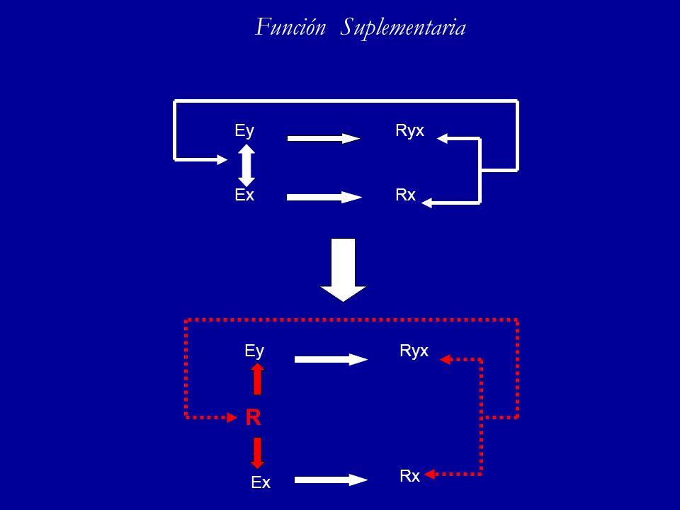 Función Suplementaria ExRx RyxEy Ex Rx RyxEy R