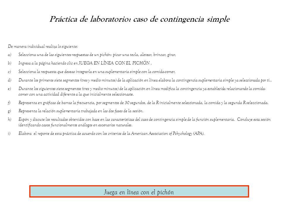 Práctica de laboratorio: caso de contingencia simple De manera individual realiza lo siguiente: a)Selecciona una de las siguientes respuestas de un pi