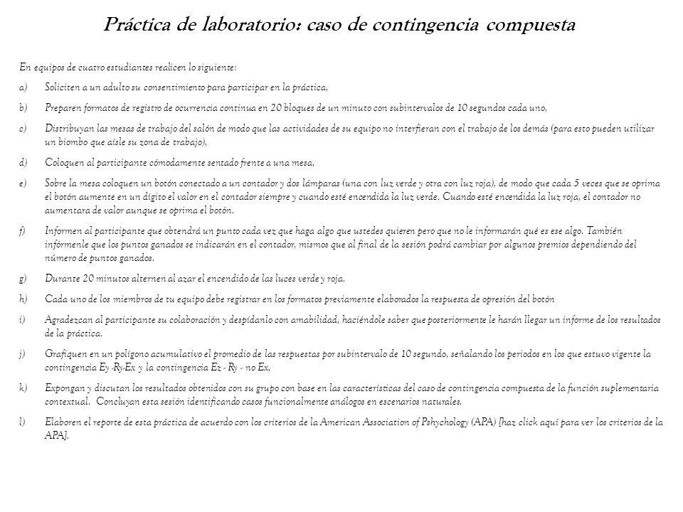 Práctica de laboratorio: caso de contingencia compuesta En equipos de cuatro estudiantes realicen lo siguiente: a)Soliciten a un adulto su consentimie