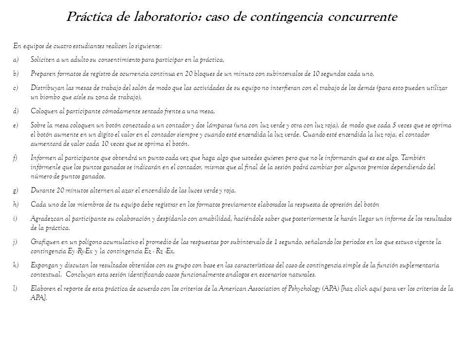 Práctica de laboratorio: caso de contingencia concurrente En equipos de cuatro estudiantes realicen lo siguiente: a)Soliciten a un adulto su consentim