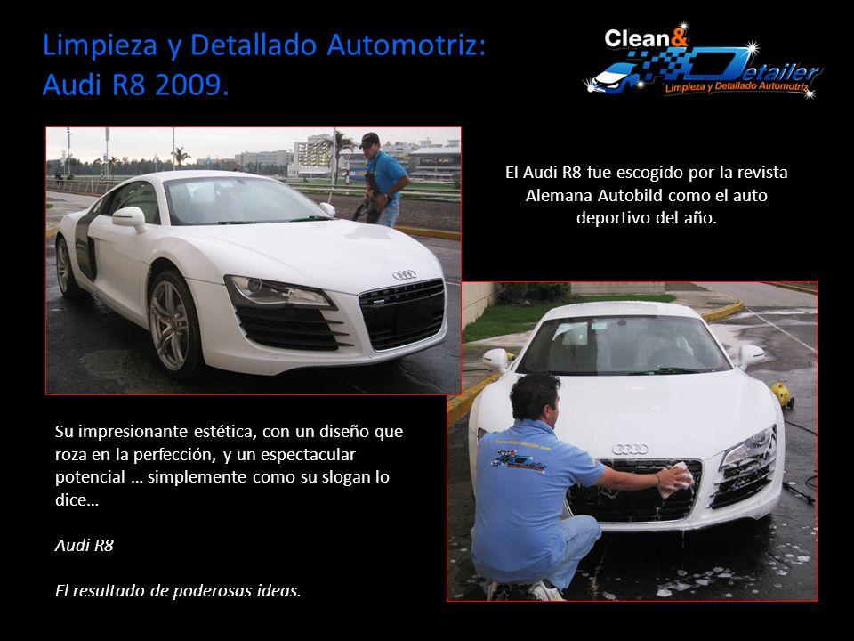 Limpieza y Detallado Automotriz: Audi R8 2009.Ficha Técnica: Audi R8 2009.