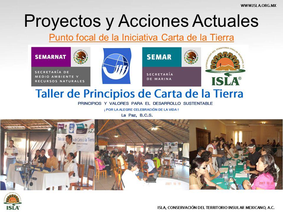 Punto focal de la Iniciativa Carta de la Tierra Proyectos y Acciones Actuales