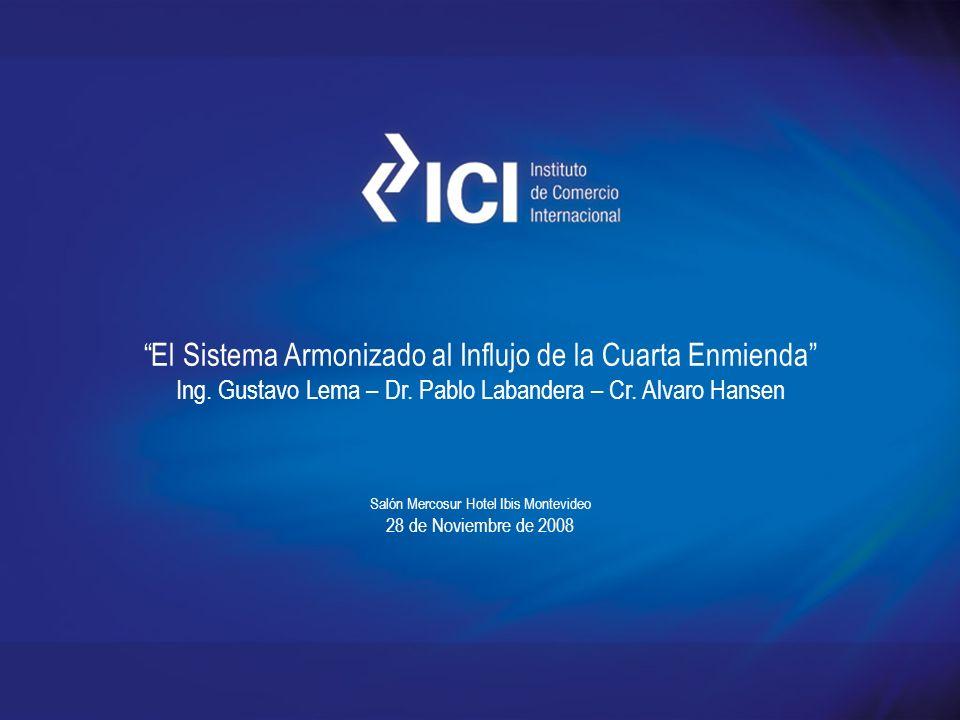 4º ENMIENDA Principales causas de las enmiendas Cambios tecnológicos Cambios normativos Cambios comerciales Ajustes propios de la Nomenclatura