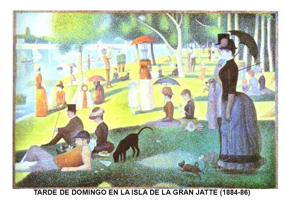 TARDE DE DOMINGO EN LA ISLA DE LA GRAN JATTE (1884-86)