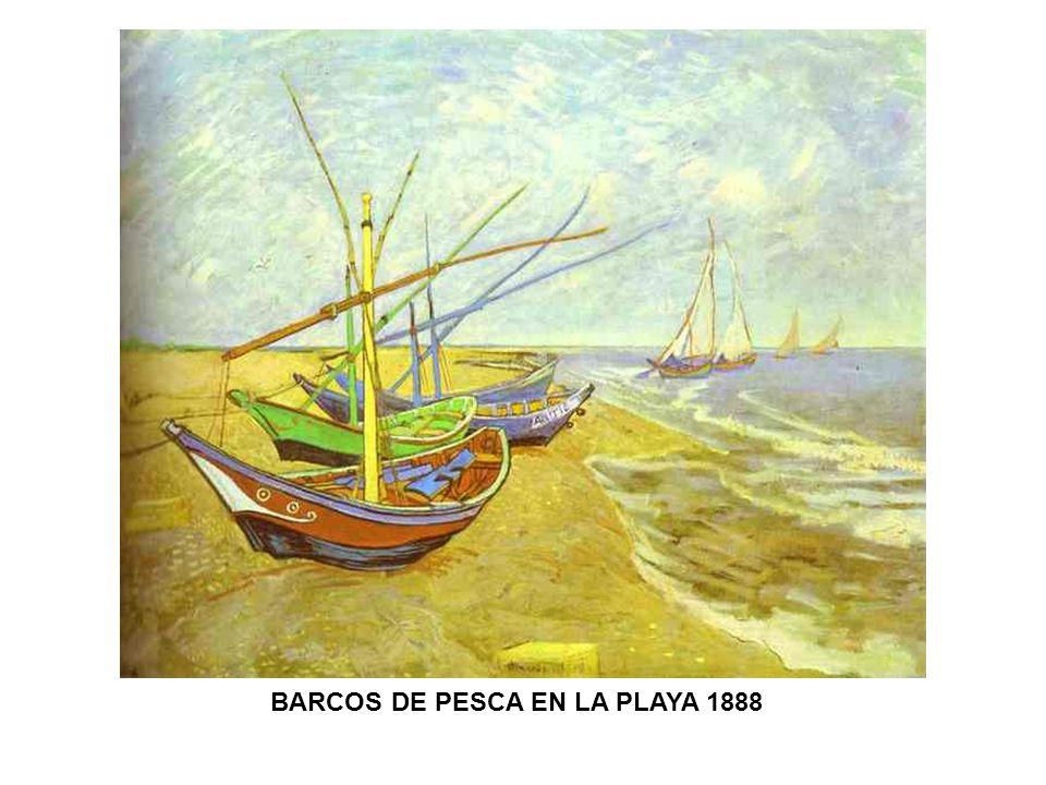 BARCOS DE PESCA EN LA PLAYA 1888
