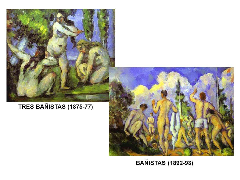 BAÑISTAS (1892-93) TRES BAÑISTAS (1875-77)