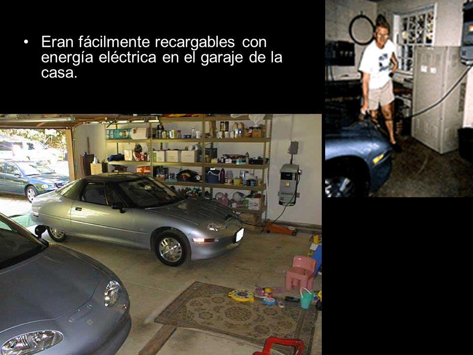 Eran fácilmente recargables con energía eléctrica en el garaje de la casa.