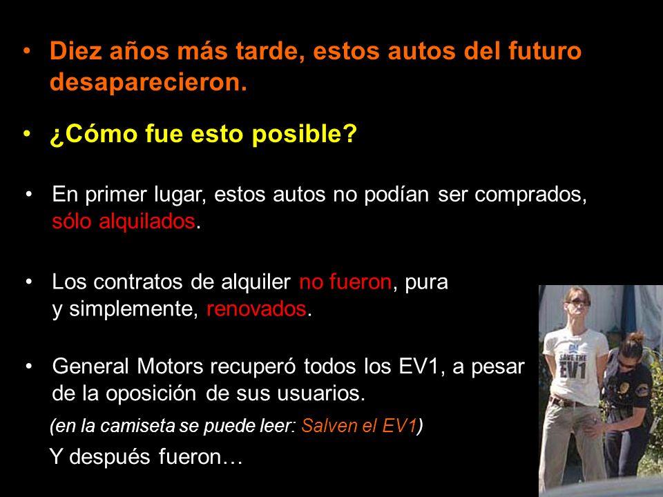 ¿Cómo fue esto posible.Diez años más tarde, estos autos del futuro desaparecieron.