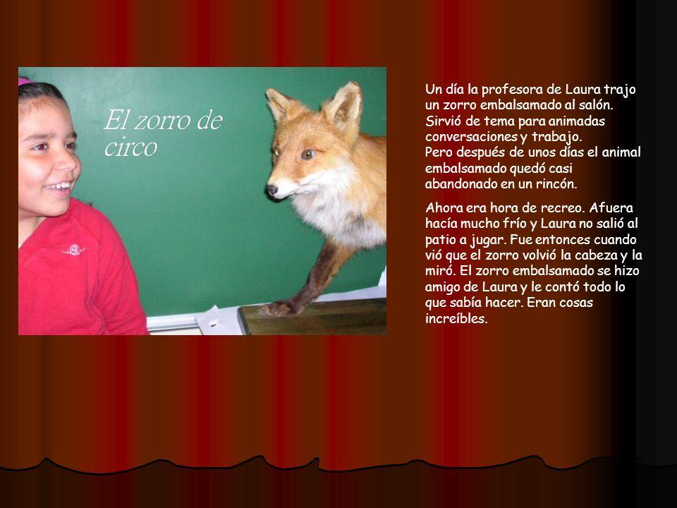Zorro de circo Autora: Laura Pastrana Segundo año Educación Básica HedlundaskolanUmeåSuecia