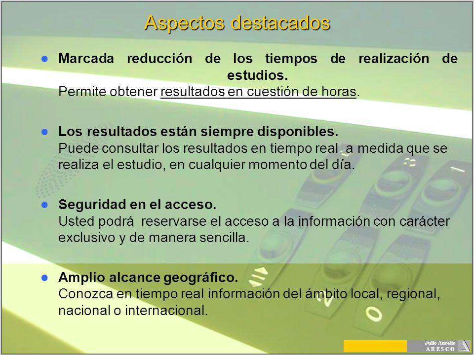 Julio Aurelio A R E S C O Aspectos destacados Marcada reducción de los tiempos de realización de estudios. Permite obtener resultados en cuestión de h