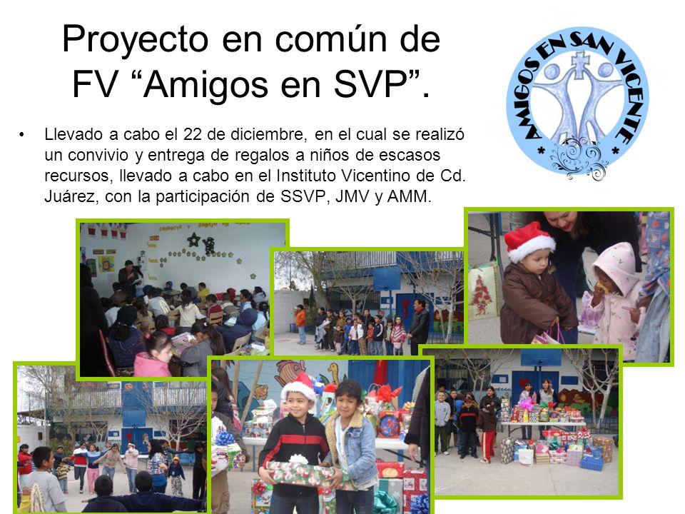 Proyecto en común de FV Amigos en SVP. Llevado a cabo el 22 de diciembre, en el cual se realizó un convivio y entrega de regalos a niños de escasos re