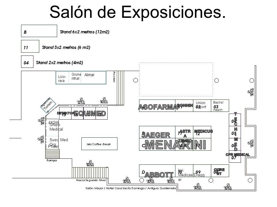 Salón de Exposiciones.Menarini 4X2m Pfiser Grupo Medical Susc.
