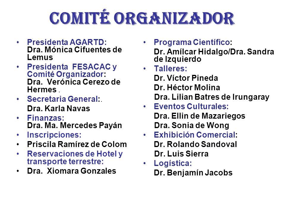 Comité organizador Programa Científico: Dr.Amílcar Hidalgo/Dra.
