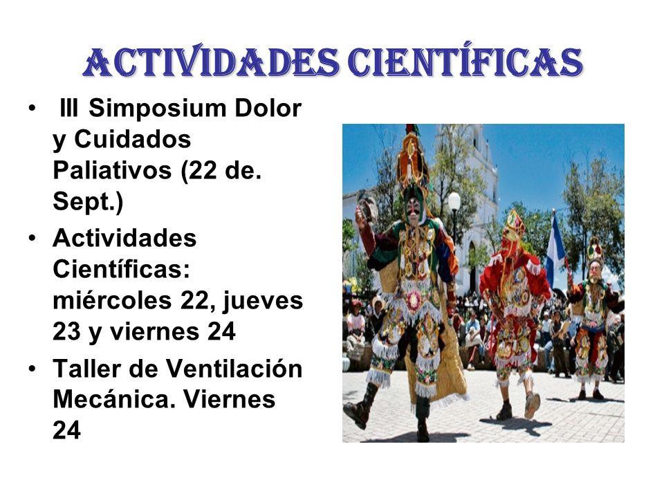 Actividades científicas III Simposium Dolor y Cuidados Paliativos (22 de.