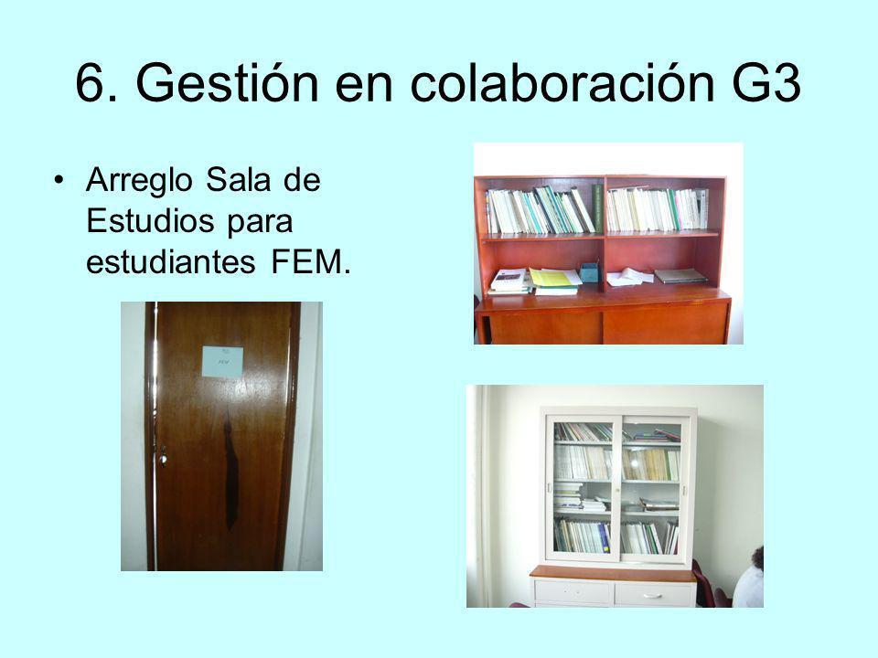 6. Gestión en colaboración G3 Arreglo Sala de Estudios para estudiantes FEM.