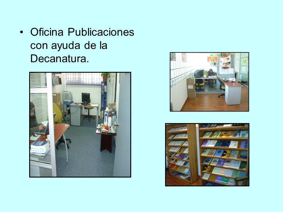 Oficina Publicaciones con ayuda de la Decanatura.