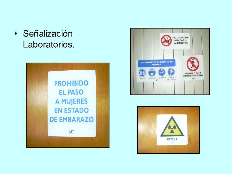 Señalización Laboratorios.