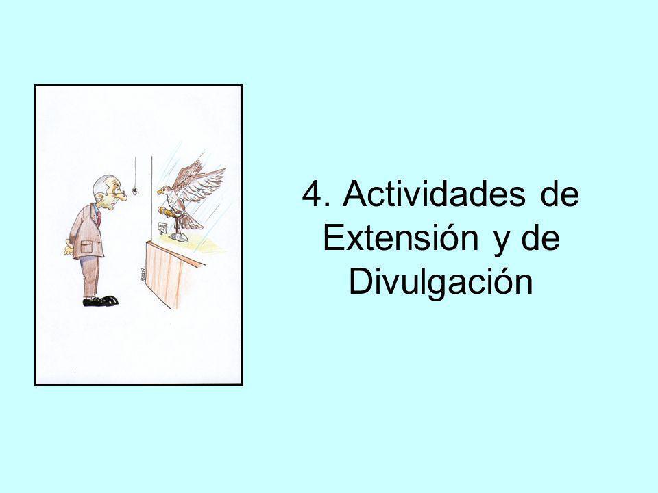 4. Actividades de Extensión y de Divulgación