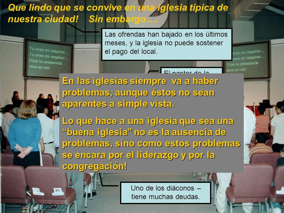 LA IGLESIA TIPICA HISPANA Fue fundada hace 4 años Tiene una asistencia de 75 personas los Domingos.