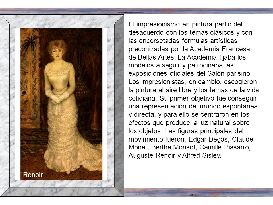 Bridgeman Art Library, London/New York Jeanne Samary Auguste Renoir retrató en 1879 a la actriz francesa Jeanne Samary. Aunque el artista se adscribió
