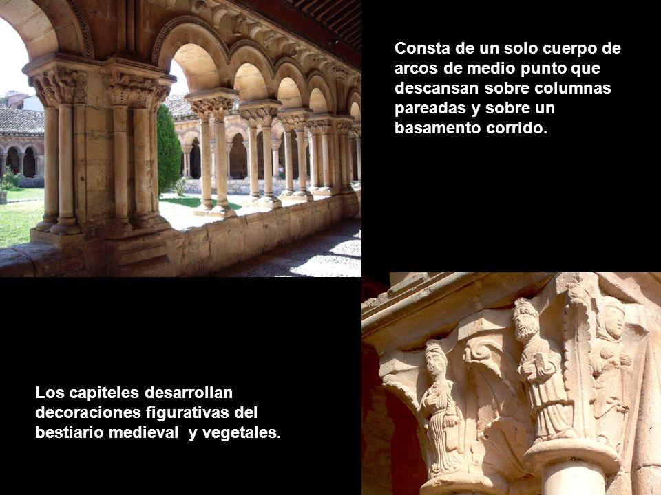 De la primera construcción queda el claustro románico de finales del siglo XII y primeros años del XIII, que perteneció a una colegiata de canónigos de San Agustín desde 1152.