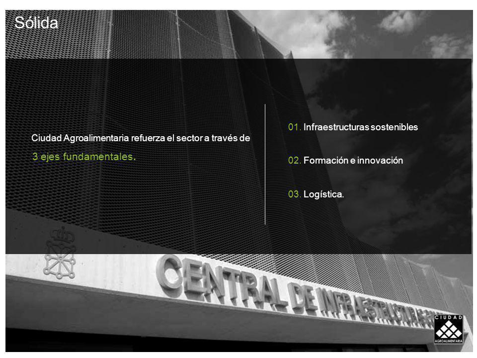 Ciudad Agroalimentaria refuerza el sector a través de 3 ejes fundamentales.