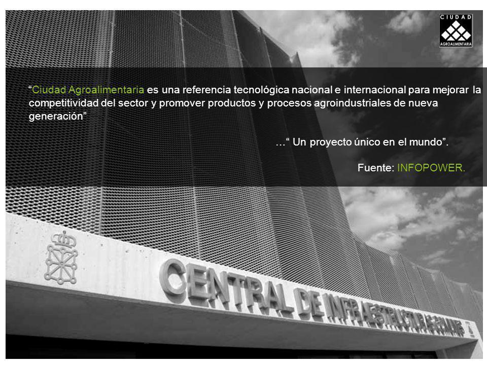 Ciudad Agroalimentaria es una referencia tecnológica nacional e internacional para mejorar la competitividad del sector y promover productos y procesos agroindustriales de nueva generación … Un proyecto único en el mundo.