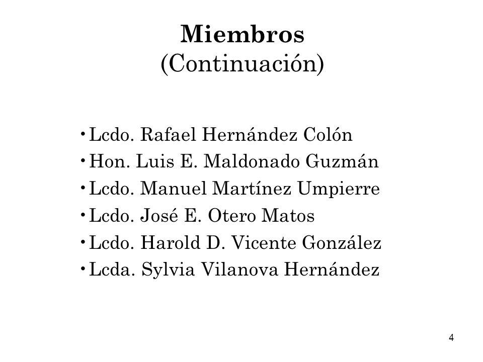 4 Miembros (Continuación) Lcdo.Rafael Hernández Colón Hon.