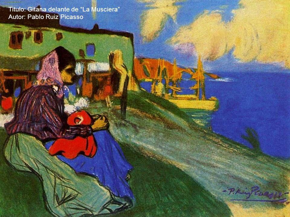 Titulo: Madre e hijo con flores Autor: Pablo Ruiz Picasso