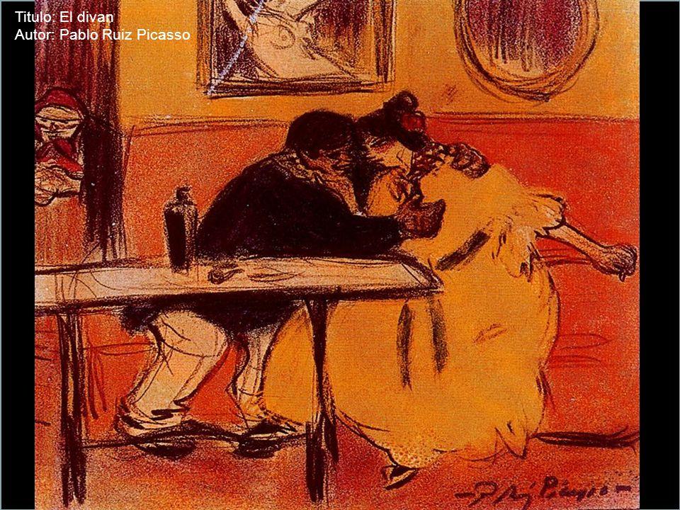 Titulo: Brasserie en Montmartre Autor: Pablo Ruiz Picasso