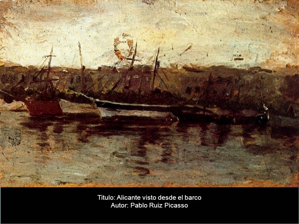 Titulo: Alicante visto desde el barco Autor: Pablo Ruiz Picasso
