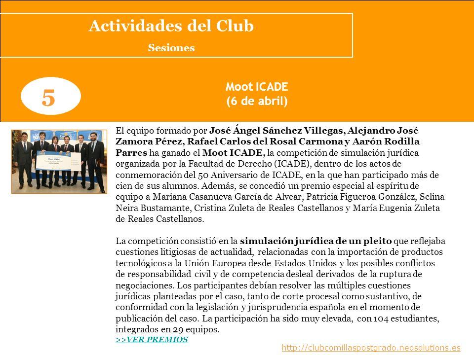 Noticias del Club www.clubcomillaspostgrado.com 1 Jay B.