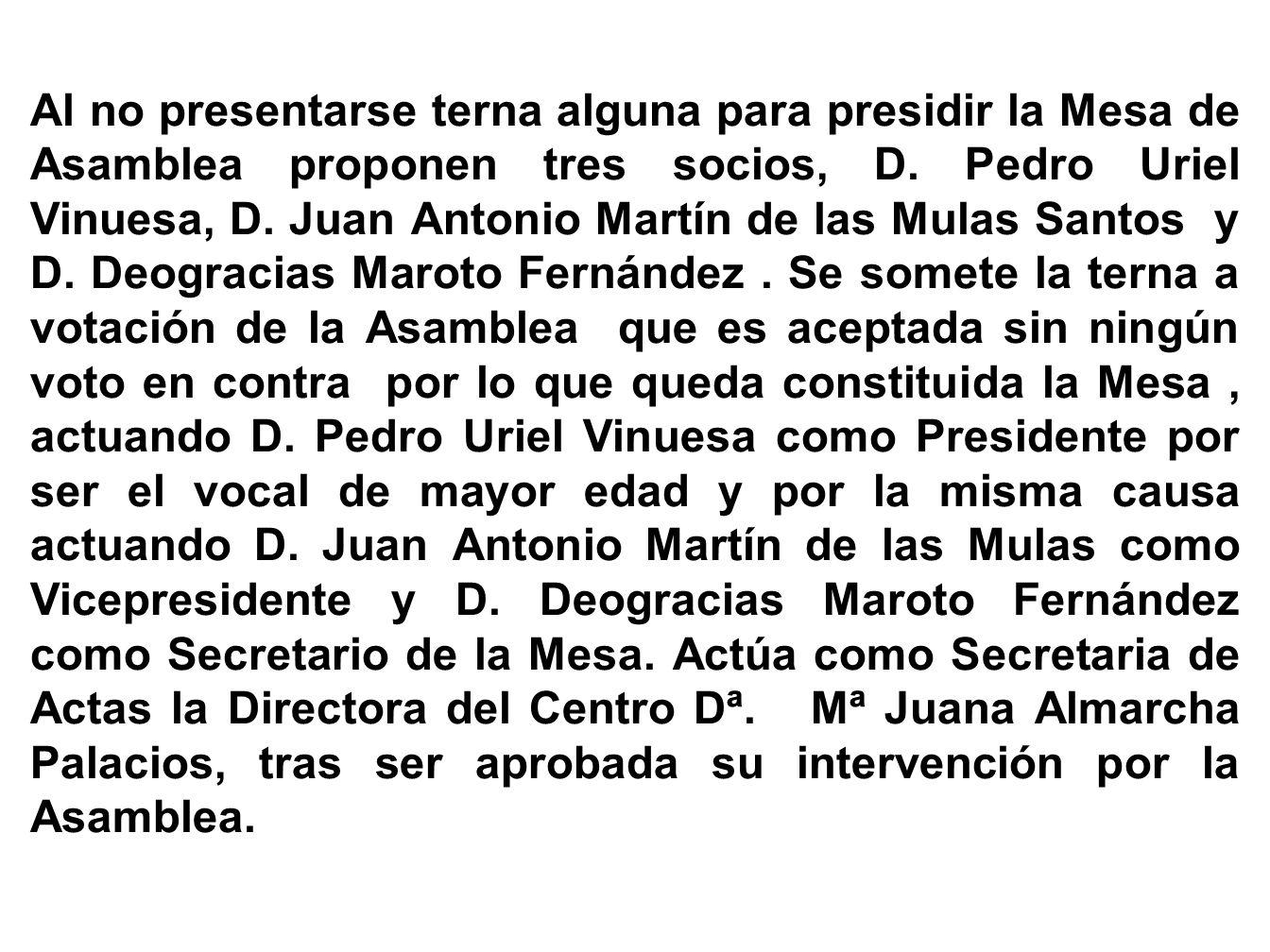 ACTA DE LA ASAMBLEA GENERAL DE SOCIOS CON CARÁCTER ORDINARIO CELEBRADA EL DIA CINCO DE MARZO DE DOS MIL SIETE EN EL CENTRO DE MAYORES DE LA SOLANA- En