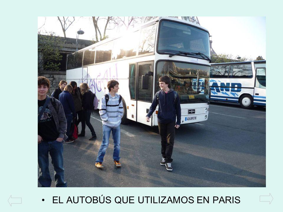 EL AUTOBÚS QUE UTILIZAMOS EN PARIS