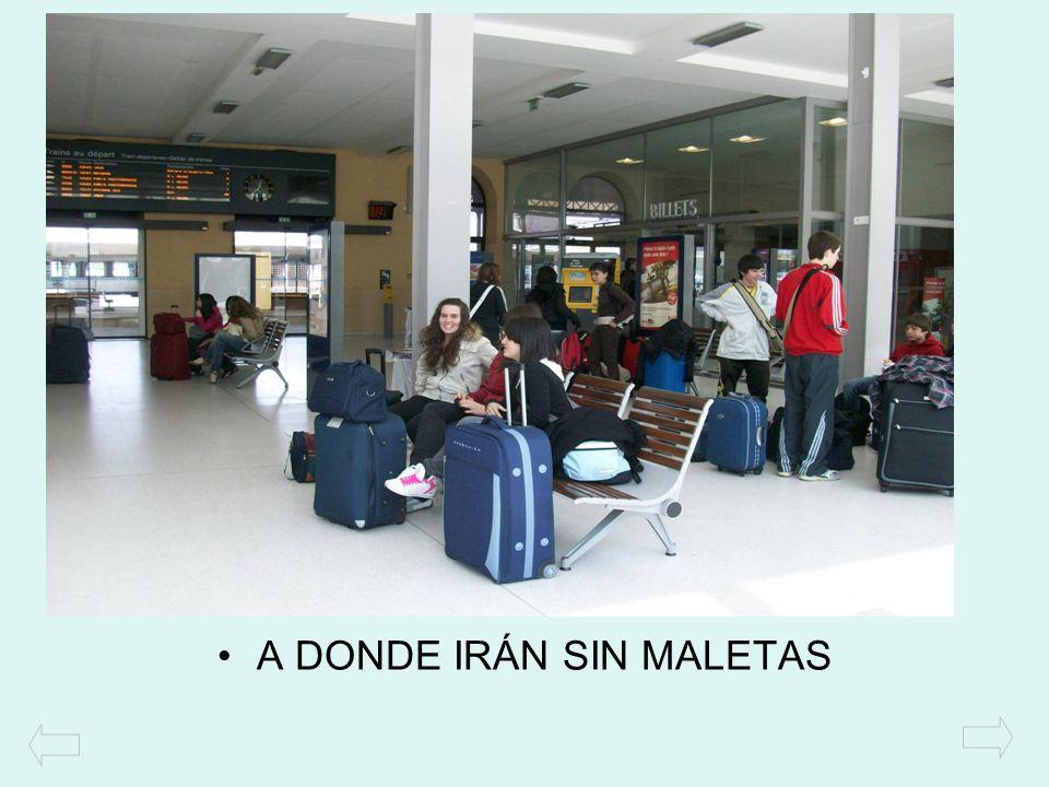 A DONDE IRÁN SIN MALETAS