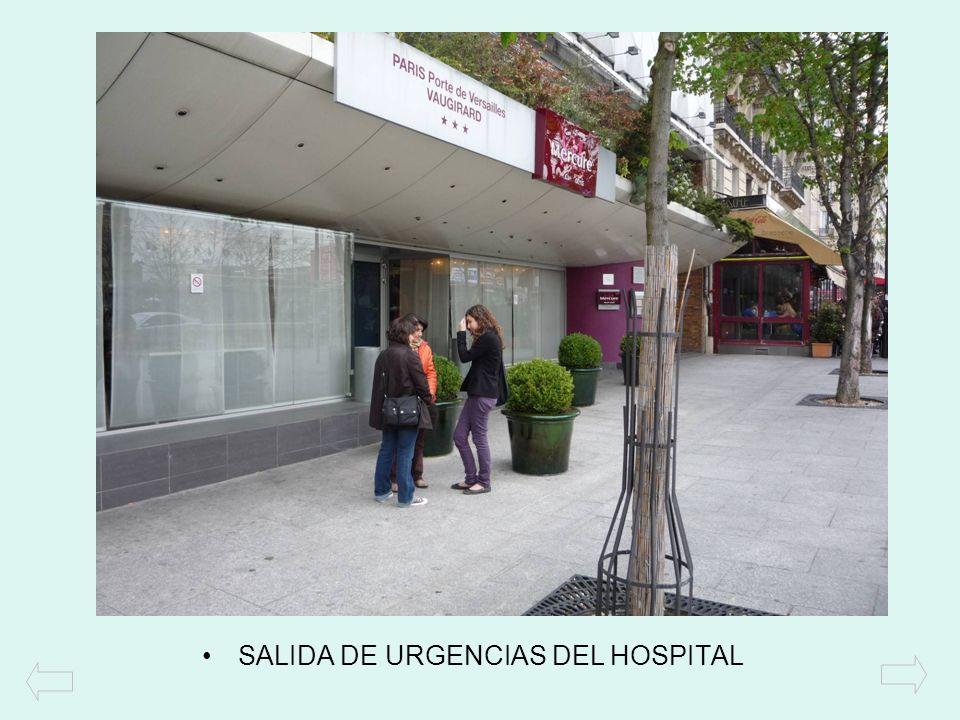 SALIDA DE URGENCIAS DEL HOSPITAL